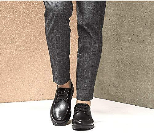 cómodos de Hombres Hombre tamaño Ocasional 7 de de 6 para Color Negocios los Cordones la los con de Cuero Cabeza Redonda UK del US Mocasines Vestido Zapatos Negro Negro Hombres para HhGold R7gwZq