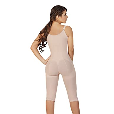Fajas Salome Womens 0521 High Back Liposculpture Girdle XS Nude