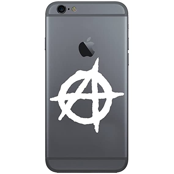 Amazon Anarchy Symbol Outline Vinyl Cell Phone Decal For The
