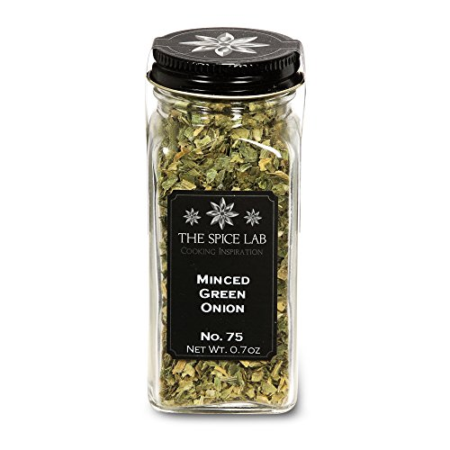 The Spice Lab No. 75 - Minced Green Onion - Kosher Gluten-Free Non-GMO All Natural Spice - French Jar ()