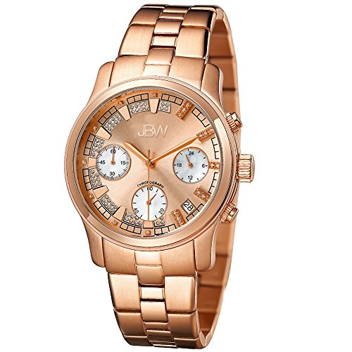 JBW Women's JB-6217-L Alessandra Rose Gold-Tone Chronograph Diamond Watch
