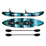 Vibe Kayaks Skipjack 120T | 12 Foot Tandem Kayak | 2 Person, Sit On Top Kayak w/ 2 Paddles and 2 Deluxe Seats