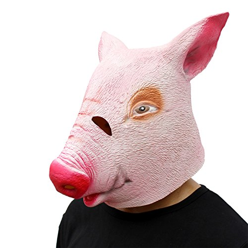 Halloween Masks Cheap (CreepyParty Novelty Halloween Costume Party Latex Animal Head Mask Alpaca)
