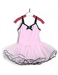 3-8Y Girl Party Leotard Pink Ballet Dance Tutu Skirt Fairy Dress.