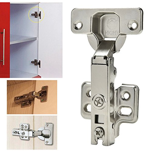 Stainless Steel Soft Close Hydraulic Cabinet Hinges (Full Overlay) - 6