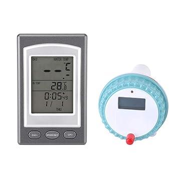 Termómetro Flotante Digital de la Piscina Termómetro de la Temperatura del Balneario del Agua del termómetro: Amazon.es: Jardín