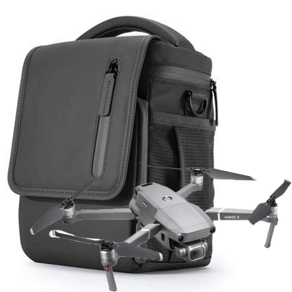 Gbell Lサイズ ポータブル 収納 ショルダーバッグ DJI Mavic 2 Pro/Zoom ドローン用 防水 アウトドア 旅行 ケース バッグ ドローン アクセサリー B07H34KHGD  ブラック