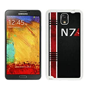 Lovely And Durable Custom Designed Case For Samsung Galaxy Note 3 N900A N900V N900P N900T With Mass Effect N7 White Phone Case