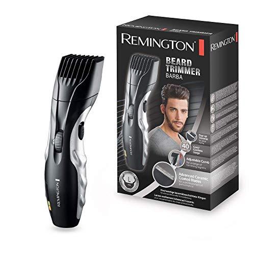 Remington MB320C Ceramic Beard- Barbero, Cuchillas Cerámica, Inalámbrico, 9 Ajustes, 1.5- 18 mm, Negro