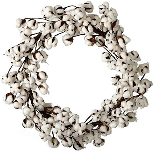 "Cotton Wreath, 26""DIAMETERx4""D, WHITE"