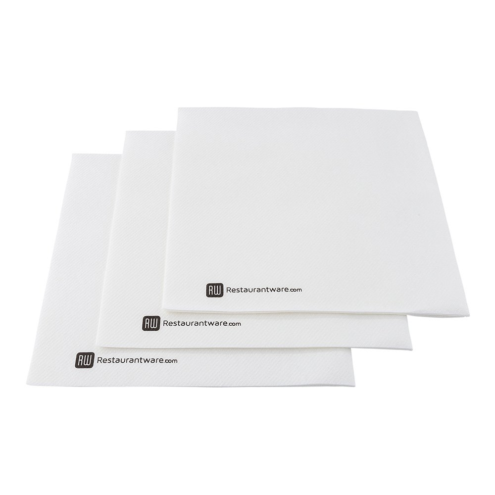 Luxenap Micropoint 3-Ply Dinner Napkins - Soft and Durable 16'' x 16'' White Paper Napkins - Disposable and Recyclable – 1800-CT – Restaurantware
