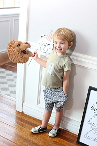 Hippo ZONXIE Soft Rubber Realistic Animal Hand Puppets Role Play Toy for Kids and Toddlers