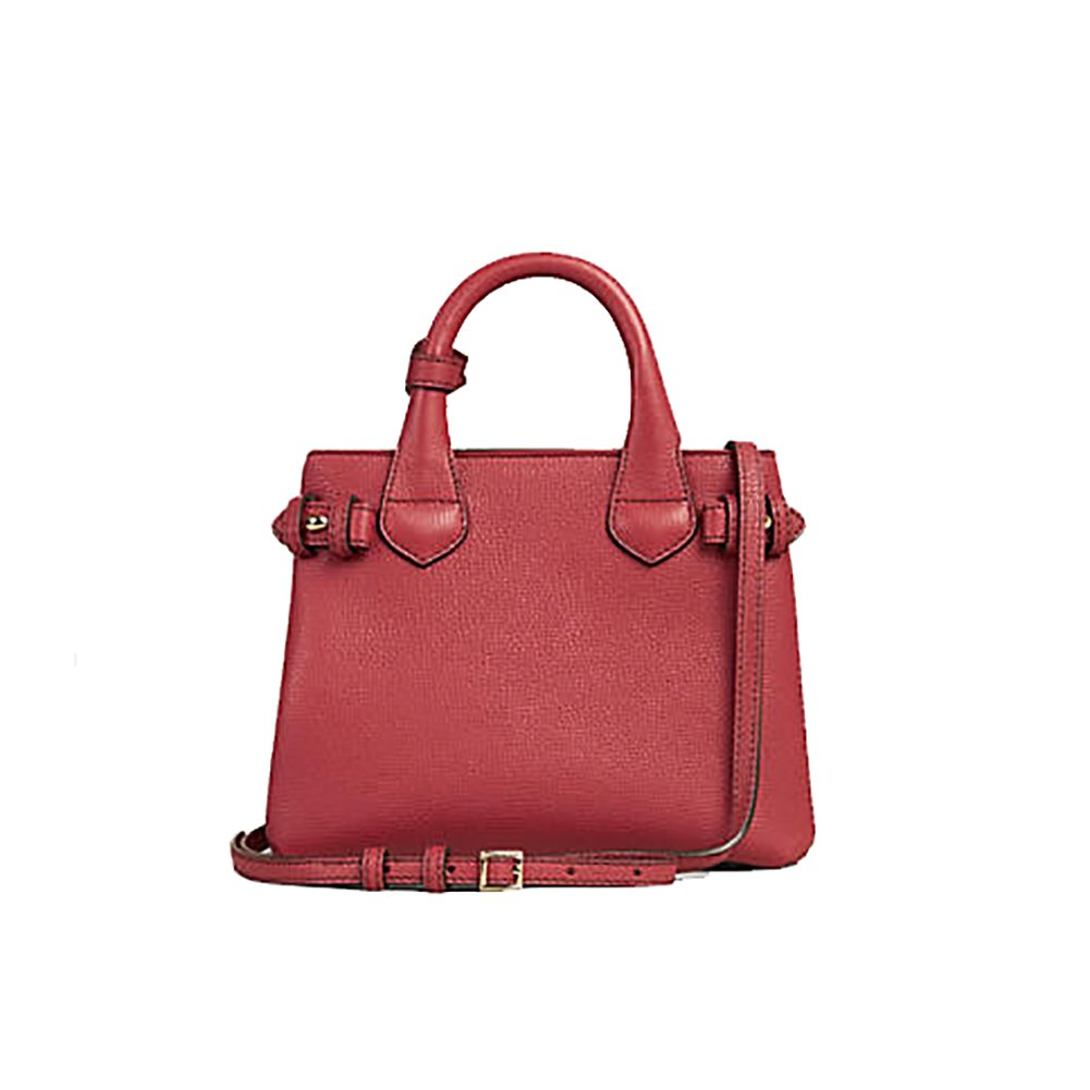 ad747582e57f Amazon.com  Tote Bag Handbag Burberry The Baby Banner in Leather and House  Check Ink Russet Red Item 40140751  Shoes