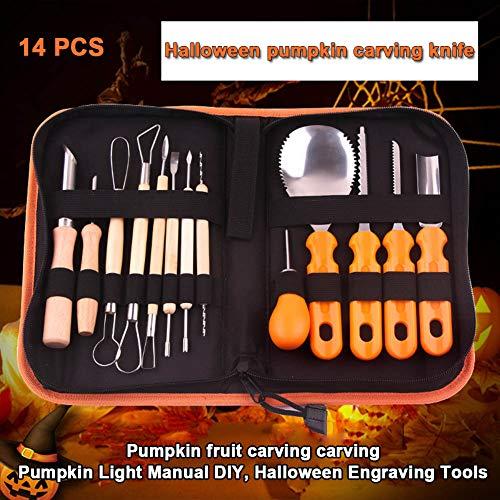 Leathercraft Tool Sets - 5 14pcs Pumpkin Carving Kit Easily Carve Sculpt Halloween 2019ing - Leathercraft Tool -