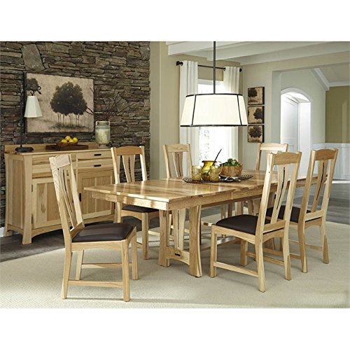 A-America Cattail Bungalow 8 Piece Extendable Dining Set in Natural