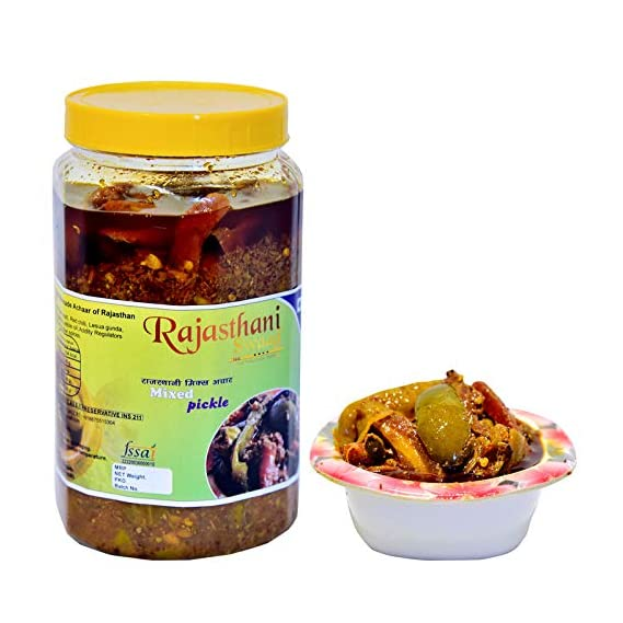 Rajasthani Swaad Mix Veg Achar Tasty Mixed Pickle Indian | Pack of 400 Grams