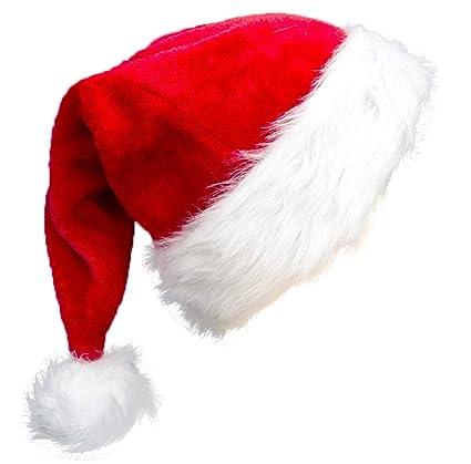 Amazon.com: Sombrero de Papá Noel de alta gama, gorro de ...