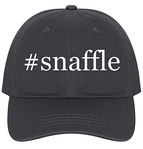The Town Butler #Snaffle - A Nice Comfortable Adjustable Hashtag Dad Hat Cap, Dark Grey