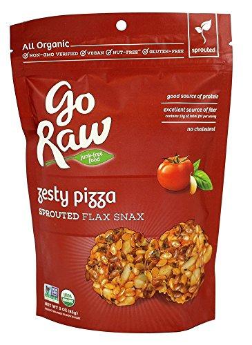 Go Raw Freeland Flax Snax, Pizza Flax Snax, 3.0 Ounce Bags