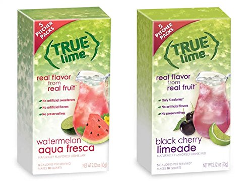 True Lime Two Quart Pitcher Sampler (Includes Black Cherry Limeade and Lime Watermelon Aquafresca)