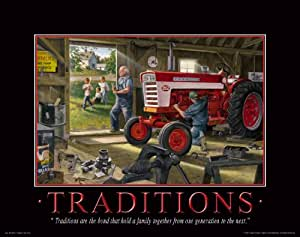Farmall case ih tractor motivational poster for International harvester decor
