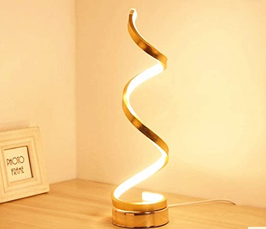 OUSENR Lámpara De Mesa Navidad Regalo De Año Nuevo Golden Casa Moderna Decoración Dormitorio Atmósfera Lámpara