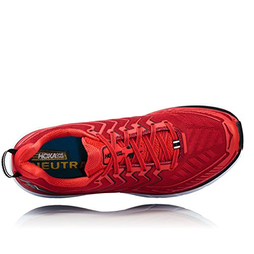 Hoka Clifton 4 Haute Red / High Red - Scarpa Running Uomo - 43 1-3