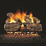 Peterson Real Fyre 30-inch Burnt Split Oak Gas Log Set With Vented Natural Gas G45 Burner - Manual Safety Pilot