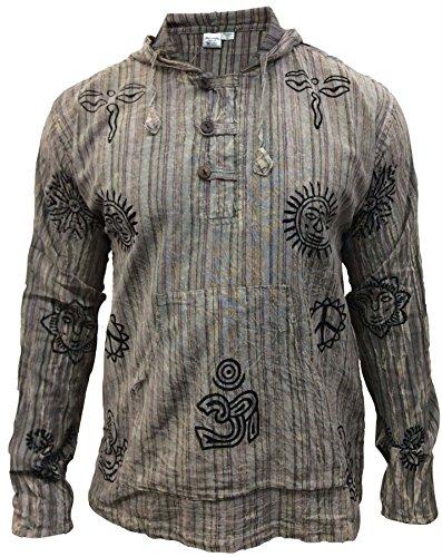 SHOPOHOLIC FASHION – Camicia da Uomo con Cappuccio a Righe