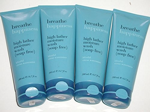 Bath and Body Works Breathe Happiness High Lather Moisture Wash (Soap-Free) 6.7 Fl Oz - Blissful Citrus Watermint - Lot of ()