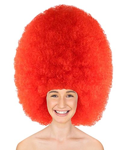 Halloween Party Online Super Size Jumbo Afro Wig Collection, Adult & Kids (Adult, Neon -