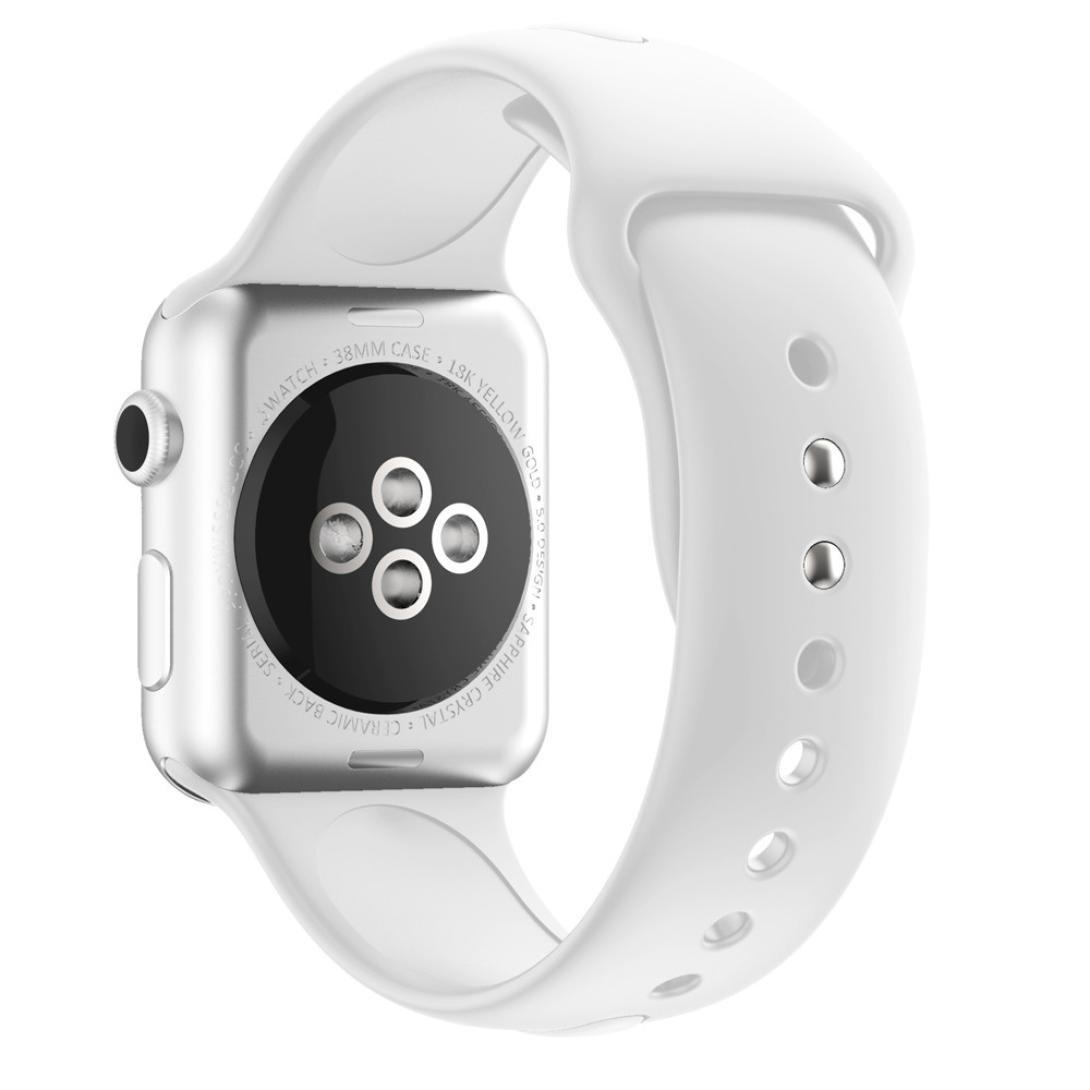 becolerシリコン交換用時計バンドfor Apple Watchシリーズ1 / 2 38 mm As show ホワイト ホワイト ホワイト B079324PMV