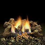 Monessen Charred Timber Ventless Gas Logs - Remote Ready - 30 inch - Natural Gas