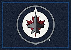 "Milliken Winnipeg Jets NHL Team Spirit Area Rug, 7'8"" by 10'9"""