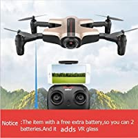 BDKJ Extra battery WIFI FPV folding rc drone I251HW 2.4g attitude hold VR glass remote control quadcopter with HD camera