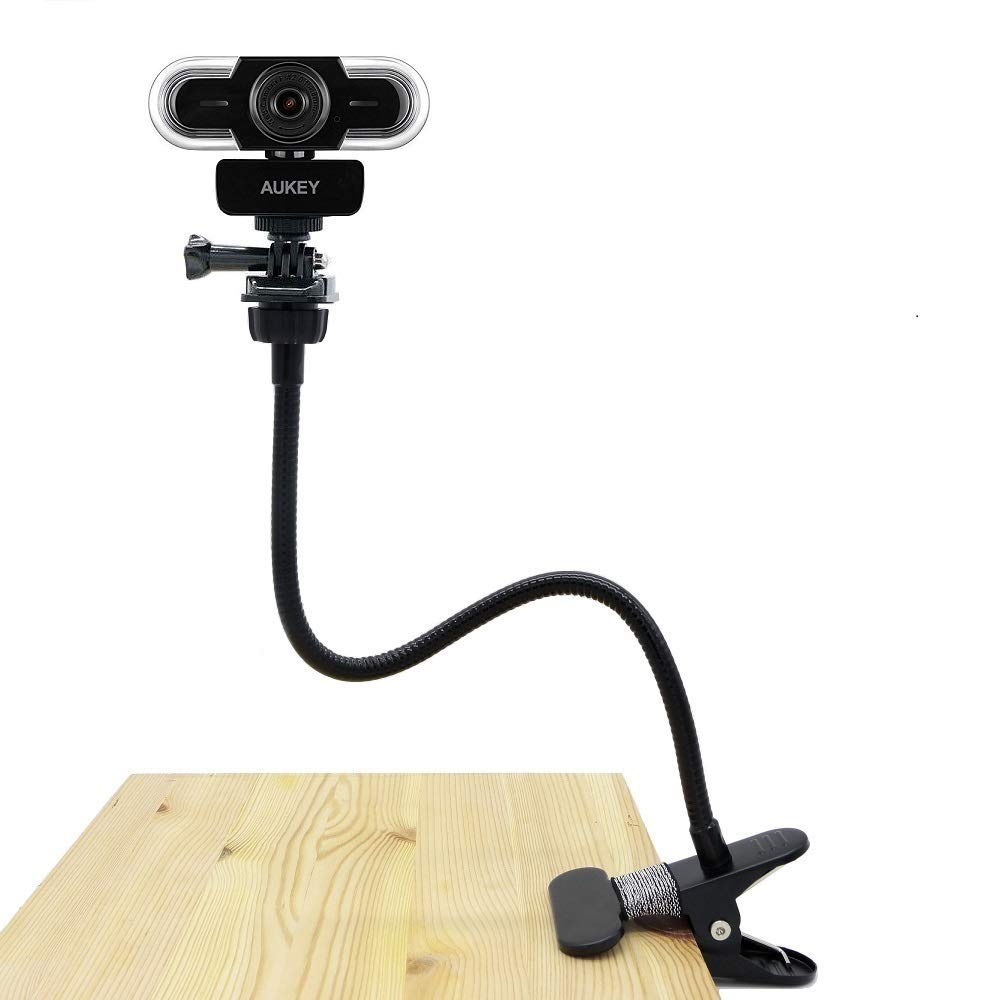 Webcam Clip, Flexible Stand for Aukey Webcam 2K HD,1080P with Autofocus (1/4'' Thread) - Acetaken Acetaken Mount