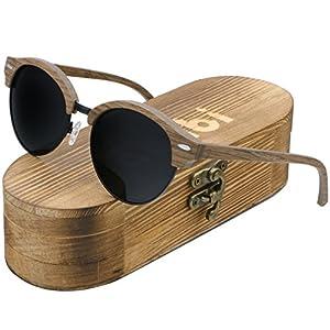 Ablibi Semi Rimless Wood Polarized Sunglasses Women Men Brand Designer Wood Shades