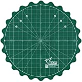 """REZY Self-Healing Round Rotating Rotary Turntable 8"""" inch Green Cutting MAT"""