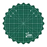 REZY Self-Healing Round Rotating Rotary Turntable 8'' inch Green Cutting MAT