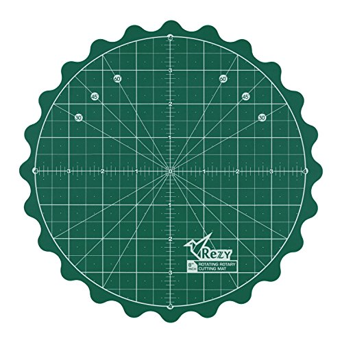REZY Self-Healing Round Rotating Rotary Turntable 8'' inch Green Cutting MAT by REZY