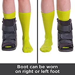 BraceAbility Short Broken Toe Boot for Fracture Recovery and Healing after Foot or Ankle Injuries - S