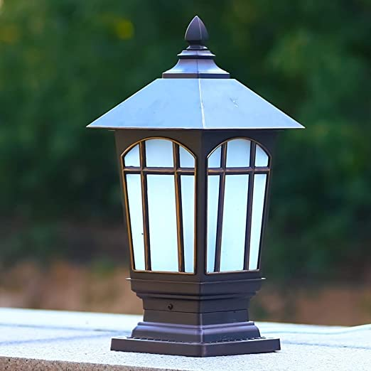 Zhong$chaung Columna Luces faroles Luces de Columpio jardín Luces de jardín Luces de Calle LED al Aire Libre Uso al Aire Libre a Prueba de Intemperie.: Amazon.es: Hogar