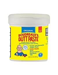 Boudreaux's Butt Paste Diaper Rash Ointment - Original - Contains 16% Zinc Oxide - Pediatrician Recommended - Paraben and Preservative-Free - 16 Ounce ( Packaging May Vary ) BOBEBE Online Baby Store From New York to Miami and Los Angeles