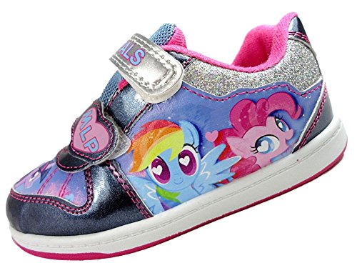 d2cb4f4eb6 Girls My Little Pony Glitter Trainer Soft Close Fastening Shoes 6-12 UK - Buy  Online in Oman.