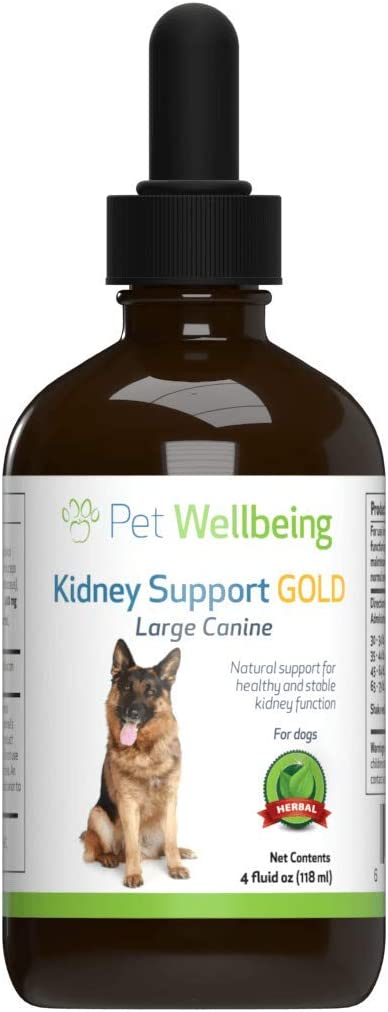 Pet Wellbeing - Kidney Support Gold for Dogs - Natural Support for Canine Kidney Health