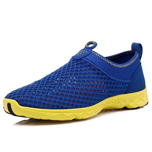 Azul Unisex XIGUAFR Nordic de Adulto Walking de Lona Zapatillas I88FxwYqv