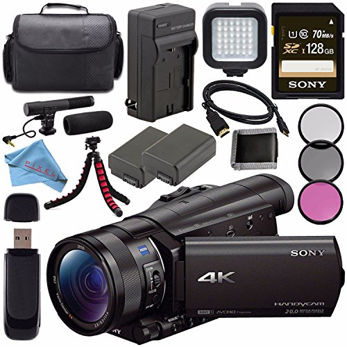 Sony FDR-AX100 FDRAX100/B 4K Ultra HD Camcorder Bundle Pro