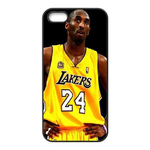 Kobe Bryant 04 coque iPhone 5 5S cellulaire cas coque de téléphone cas téléphone cellulaire noir couvercle EOKXLLNCD25321