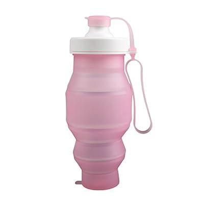 GXY - Bouteille d'eau / Gourde d'eau de sport pliable en Silicone étanche avec soupape anti fuite ultra légère / Parfaite pour les activités en plein air, Sport, Voyage, Gym, Running, R
