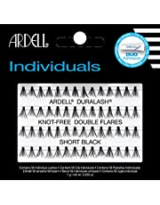 ARDELL Double Individuals Short (Knot Free), Eye-Lasshes afzonderlijke wimpers van echt haar (1 x 56 stuks), zwart, zwart (zonder lijm) (1x)